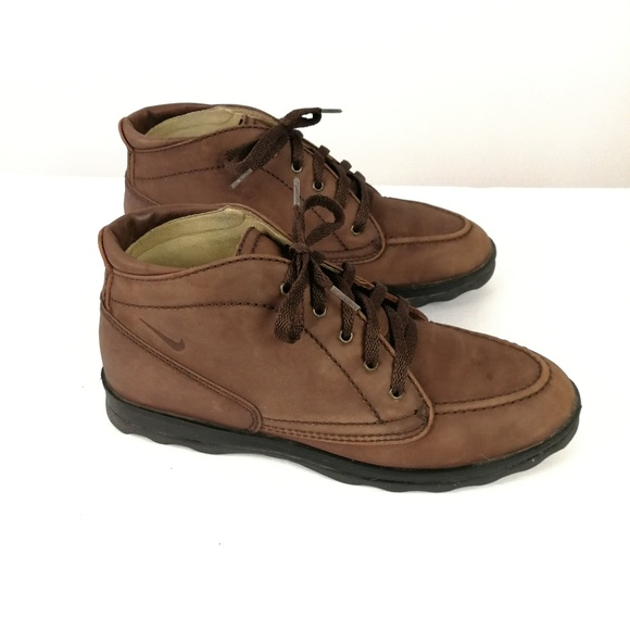 Nike Air Ankle Hiking Boots Size 8.5 Leather Lace